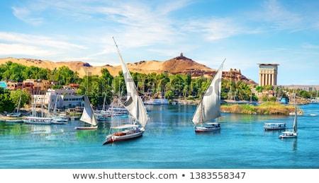 Nile and boats Stock photo © Givaga