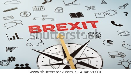 a compass with text and icons   brexit stock photo © zerbor