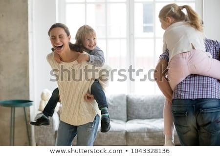 Mère fille magnifique temps salon famille Photo stock © Lopolo