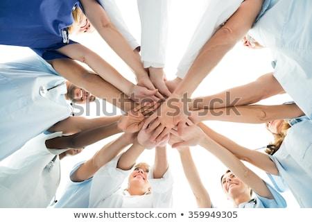 médico · equipe · mãos · diretamente · abaixo - foto stock © andreypopov