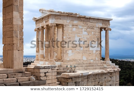 Tempio Nike Atene Acropoli ionica sfondo Foto d'archivio © borisb17