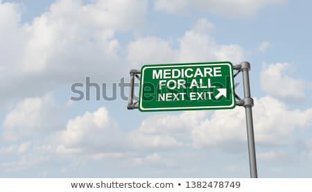 Medicate egészségbiztosítás program Egyesült Államok 3d illusztráció pecsét Stock fotó © olivier_le_moal