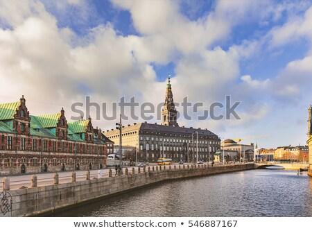 Tőzsde Koppenhága épület központi Dánia keresztény Stock fotó © borisb17
