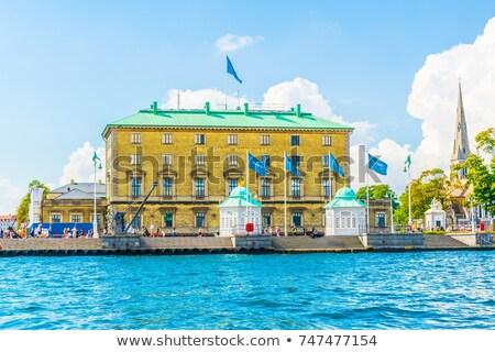 Haven autoriteit gebouw Kopenhagen twee koninklijk Stockfoto © borisb17