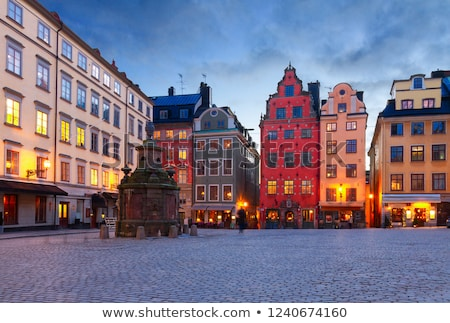 Стокгольм · Швеция · здании · старый · город · красочный · зданий - Сток-фото © borisb17