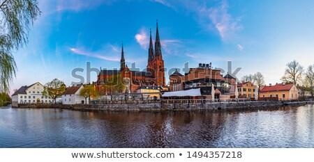 大聖堂 · センター · 日付 · 戻る · 遅い · 教会建築 - ストックフォト © borisb17