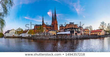 catedral · centro · datas · de · volta · tarde · prédio · da · igreja - foto stock © borisb17
