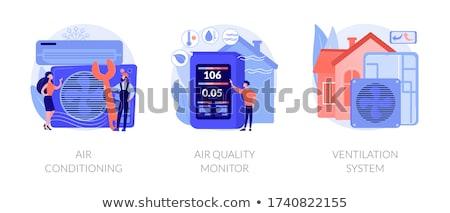 conditioning system icons set Stock photo © netkov1