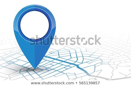 couleur · navigation · carte · GPS · emplacement · symbole - photo stock © pikepicture