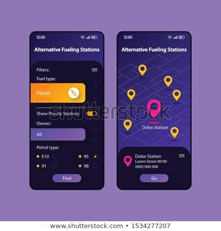 Alternative fuel app interface template. Stock photo © RAStudio