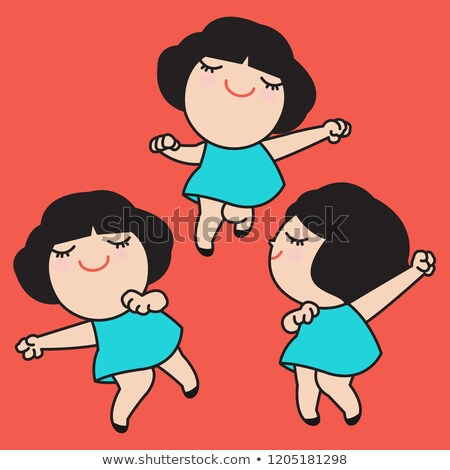 Dancing People in Good Mood Isolated Characters Stock photo © robuart