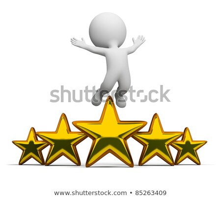 3d small people   golden star stock photo © anatolym