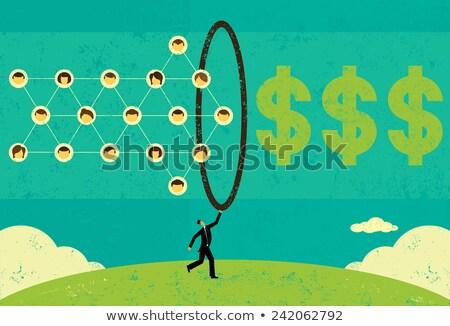 Dollar iconen amerikaanse geïsoleerd Stockfoto © robuart