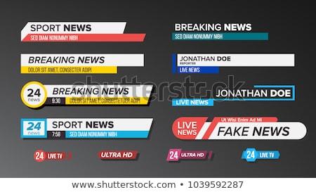 Hdtv grafisch ontwerp sjabloon vector hd tv Stockfoto © haris99