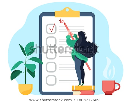 Girl with managerial task concept Stock photo © ra2studio