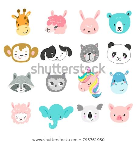 Unicorn cat cartoon hand drawn style Stock photo © amaomam