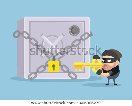 домой безопасной ценные бумаги ограбление комического Сток-фото © rogistok