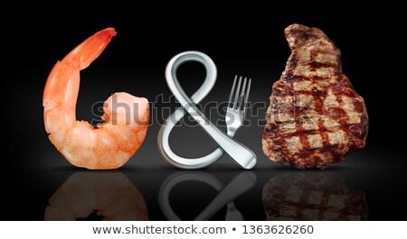 Szörf tőzeg hús tengeri hal steak lazac Stock fotó © Lightsource