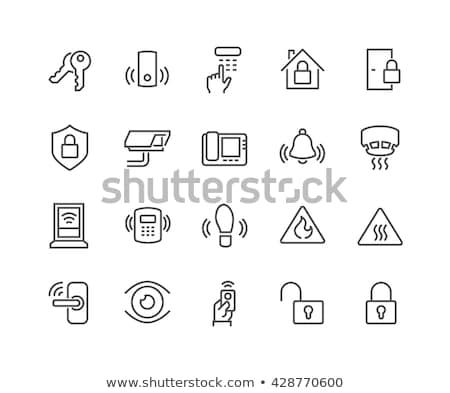 home security system set icons vector illustration Stock photo © konturvid