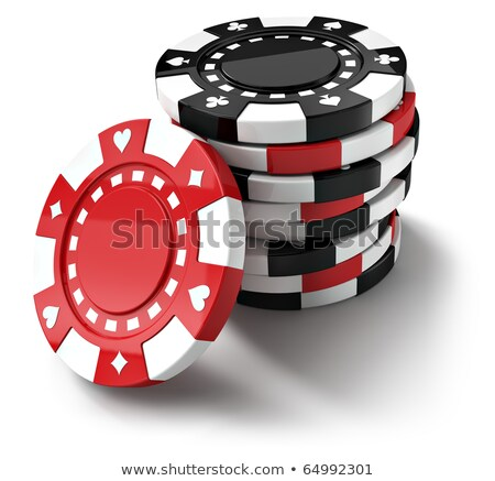 jogos · de · azar · lasca · projeto · vetor · monocromático · preto - foto stock © robuart