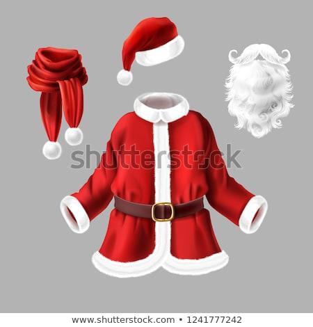 Rood christmas kerstman kostuum geïsoleerd witte Stockfoto © orensila