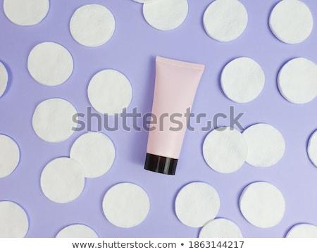 オーガニック 綿 紫色 化粧品 化粧 ストックフォト © Anneleven