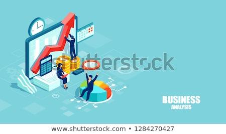 Financiële corporate tijd is geld kantoor vector mannen Stockfoto © robuart