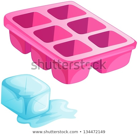 Ice cubes from ice tray on white background Stock photo © bluering