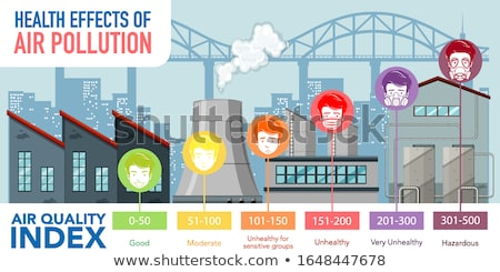 Diagram showing air quality index with color scales Stock photo © bluering