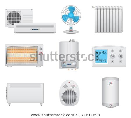 Home elektronische verwarming uitrusting vector icon Stockfoto © pikepicture