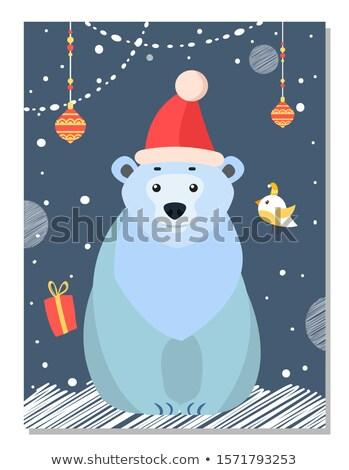 полярный белый несут Рождества украшение Сток-фото © robuart