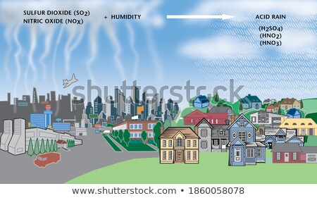 Diagram showing air pollution in city Stock photo © bluering