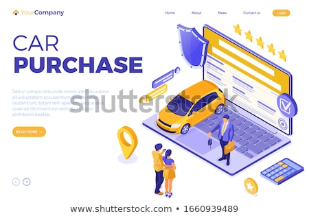 Online Sale Purchase Rental Sharing Car Isometric Stock photo © -TAlex-
