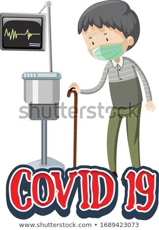 Affiche design coronavirus vieillard hôpital illustration Photo stock © bluering