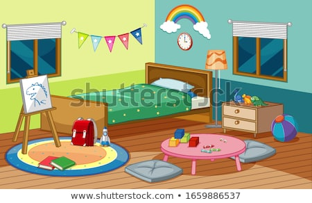 Canvas and many toys on the carpet Stock photo © bluering