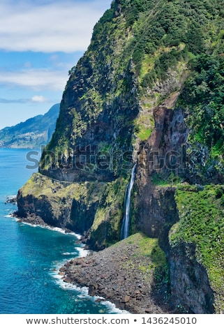 Mountain road on Madeira Island, Portugal Stock photo © boggy