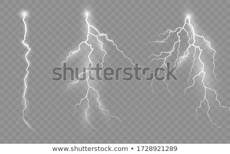 Foudre dessinés à la main blanche lumière vitesse Photo stock © ShustrikS