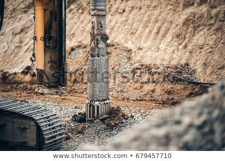Machinery Used in Working Process of Constructing Stock photo © robuart