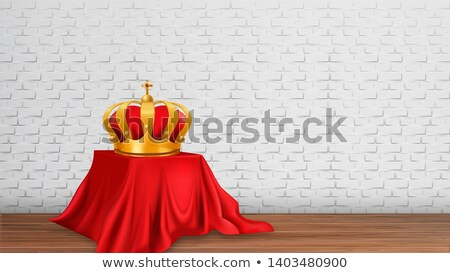 Monarch Golden Royal Crown on Modern Exhibition Stock photo © pikepicture