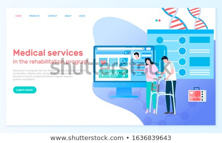 Medical Service Webpage Handicapped People Vector Stock photo © robuart