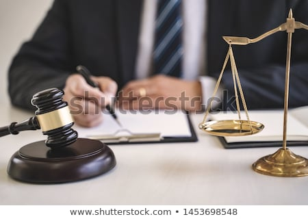 Judge Or Lawyer Writing In Courtroom Stock photo © AndreyPopov