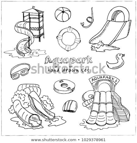 Nadmuchiwane piłka basen zestaw wektora kolekcja Zdjęcia stock © pikepicture