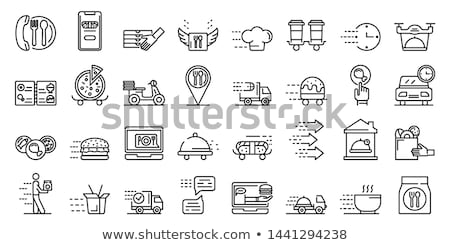 delivery service icon set Stock photo © ayaxmr