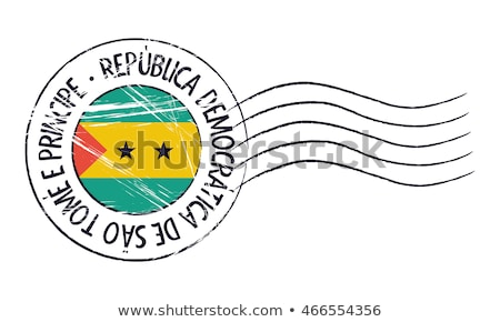 Sao Tome and Principe flag, vector illustration on a white background Stock photo © butenkow