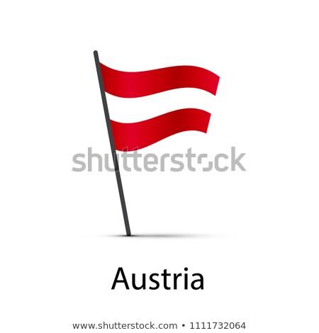 オーストリア フラグ ポール インフォグラフィック 白 ストックフォト © evgeny89