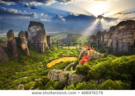 Grecja krajobraz charakter górskich lata zielone Zdjęcia stock © borisb17
