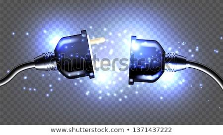 Realista elétrico plugue soquete vetor elétrico Foto stock © YuriSchmidt