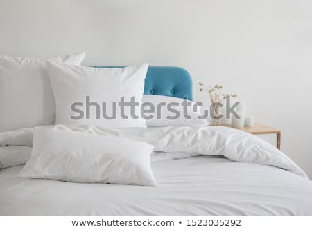 Pillows and bed in bedroom Stock photo © Ansonstock