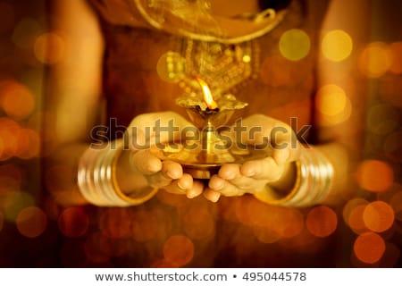 Indian prayer Stock photo © szefei