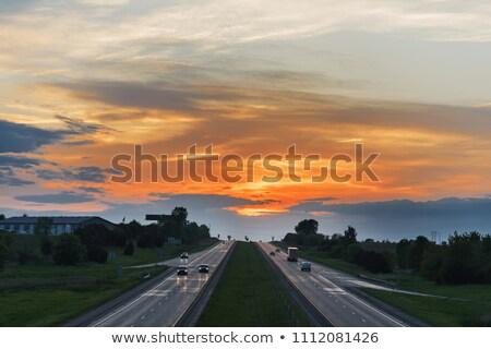 Iowa znak autostrady zielone USA Chmura ulicy Zdjęcia stock © kbuntu
